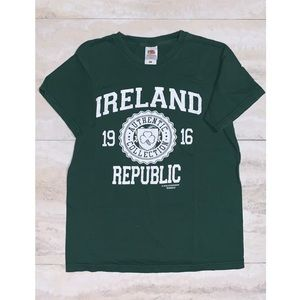 💟Fruit of the Loom Green Ireland Graphic T-Shirt